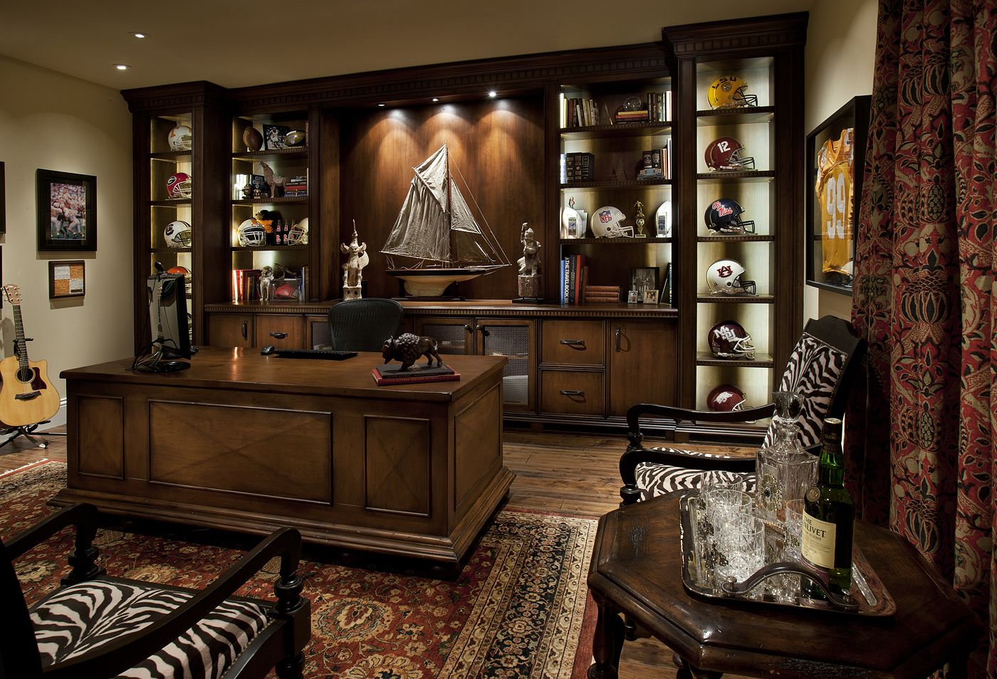 Home office masculine sports football home offices pinterest