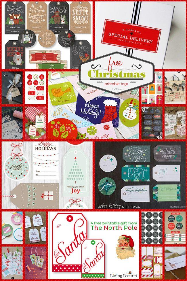 Free Printable Christmas Tags | Holiday Decorating Ideas | Pinterest ...
