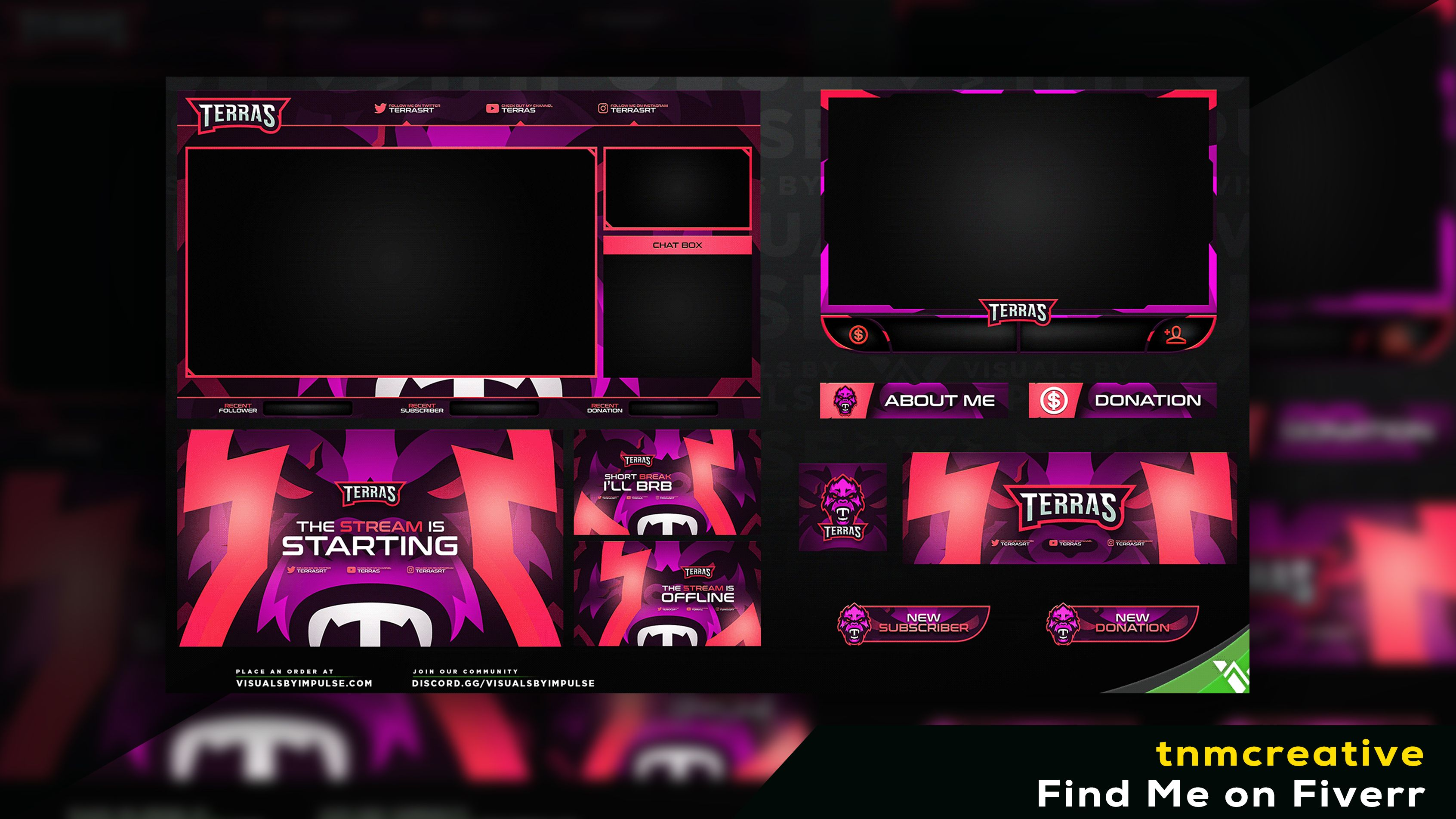 Twitch Overlay in 2020 Twitch, Overlays, Fiverr