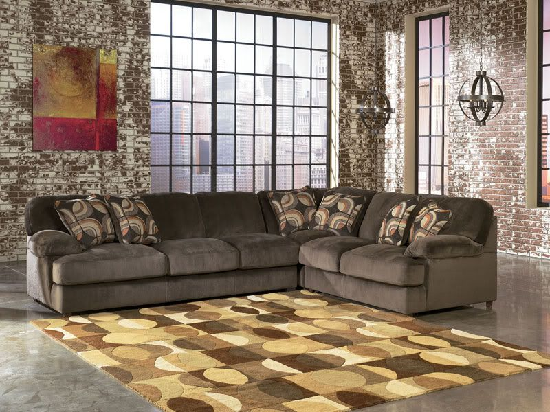 Cosmo 3pcs Modern Oversized Cafe Microfiber Sofa Couch Sectional Set Living Room Sofas Lovese Large Sectional