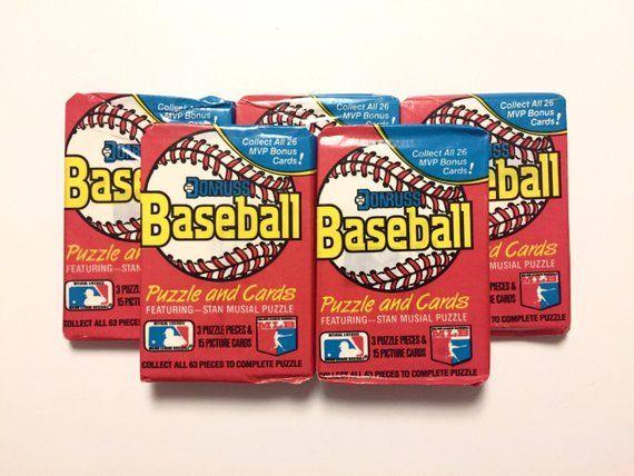 5 Wax Packs 1988 Donruss Baseball Cards Sealed Vintage 80s