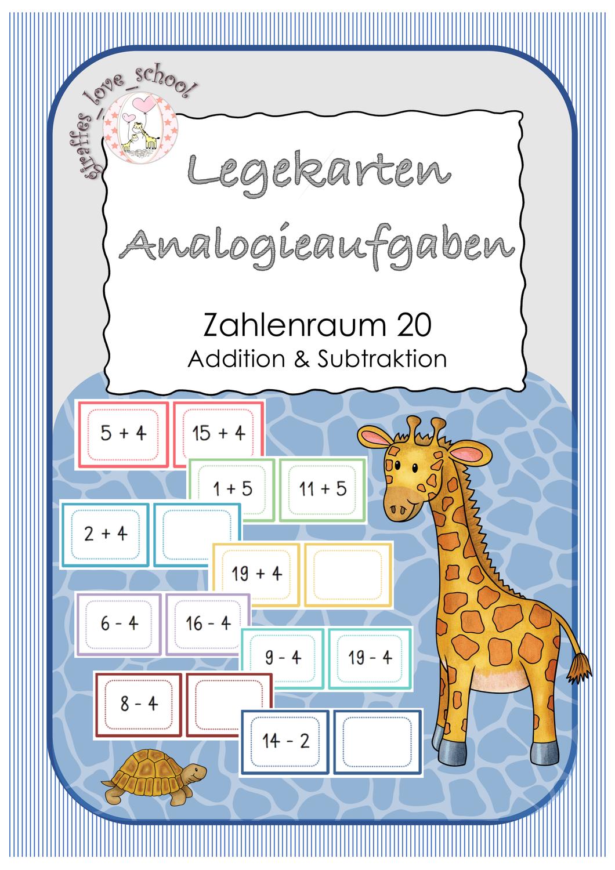 Analogieaufgaben ZR 20 Legekarten – Unterrichtsmaterial im Fach ...