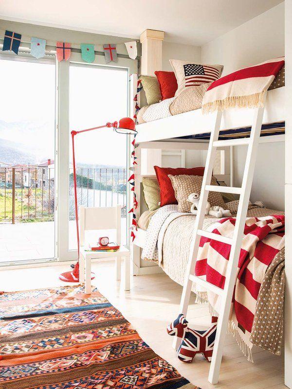 Habitaci n roja y azul decoraci n infantil nursery decor habitaci n roja decoracion para - Habitaciones infantiles azules ...