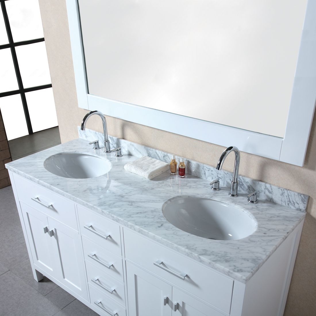 Design Element Usa Dec076b W London Double Sink Bathroom Vanity