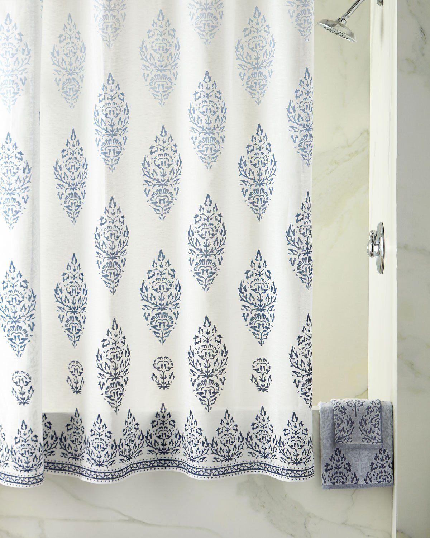 Jalati Indigo Shower Curtain By John Robshaw Indigo Shower