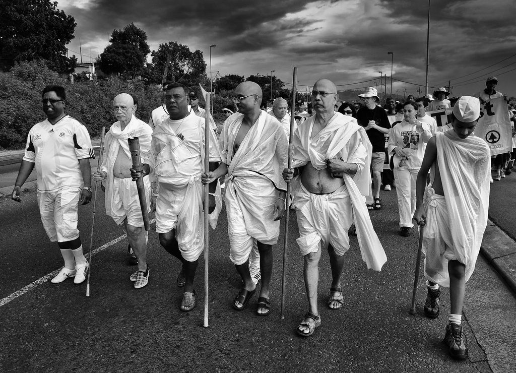 gandhi dandi salt march On march 12, at 630 in the morning, thousands of people watched as gandhi started from his ashram with seventy eight volunteers on a march to dandi, a village on the sea coast 241 miles away there, it was announced, the salt law would be broken.