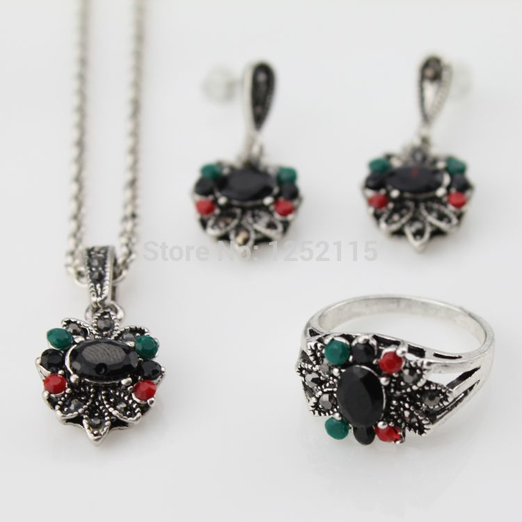 Cheap jewelry set box, Buy Quality jewelry swimsuit directly from China set brush Suppliers:                   Vintage Retro Earrings and Rings Jewelry Sets 925 Sterling Silver Oval Opal Man-made diaond Jewelry Gr