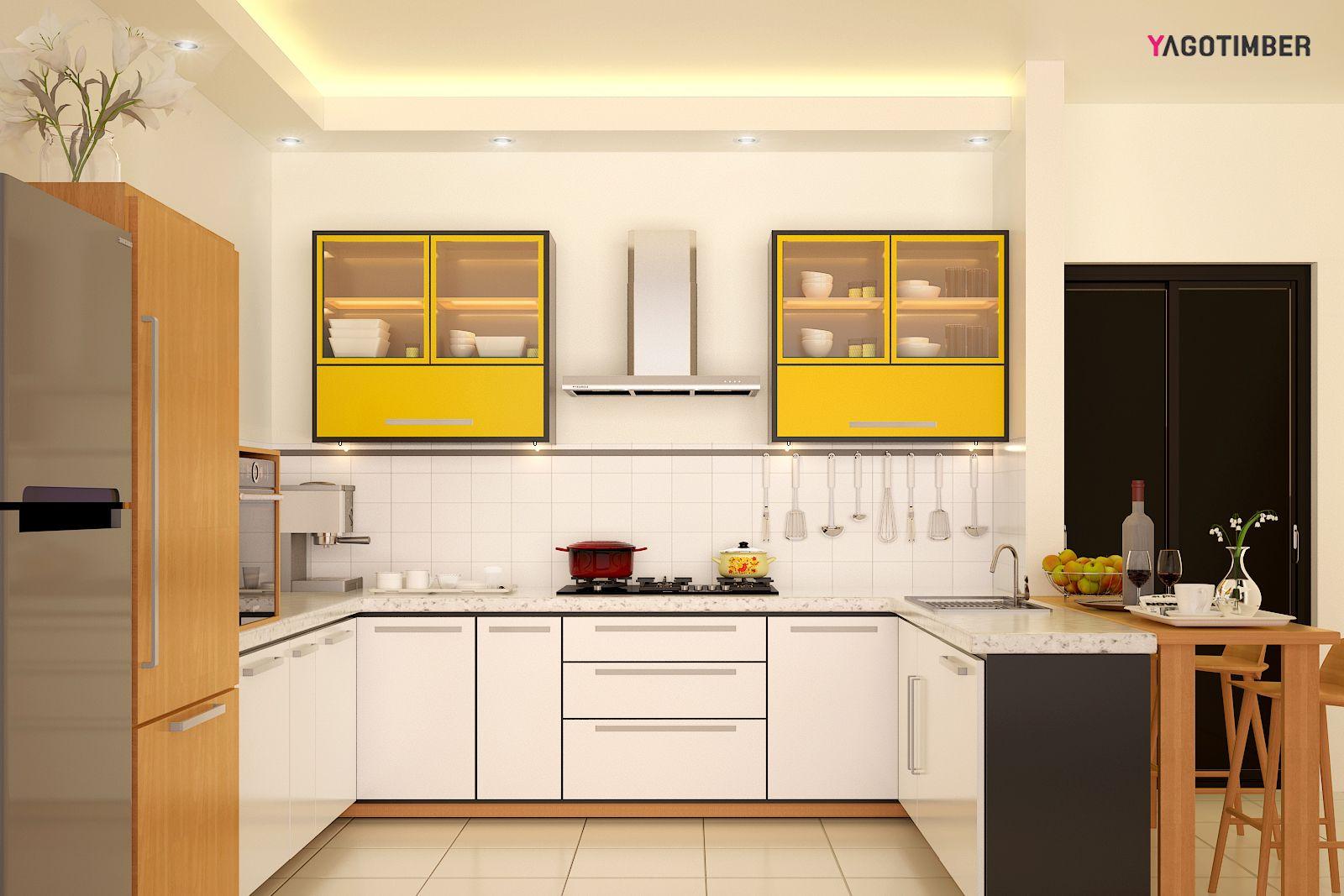 beautiful u shape kitchen design in noida yagotimber interior design kitchen modern on l kitchen interior modern id=19051