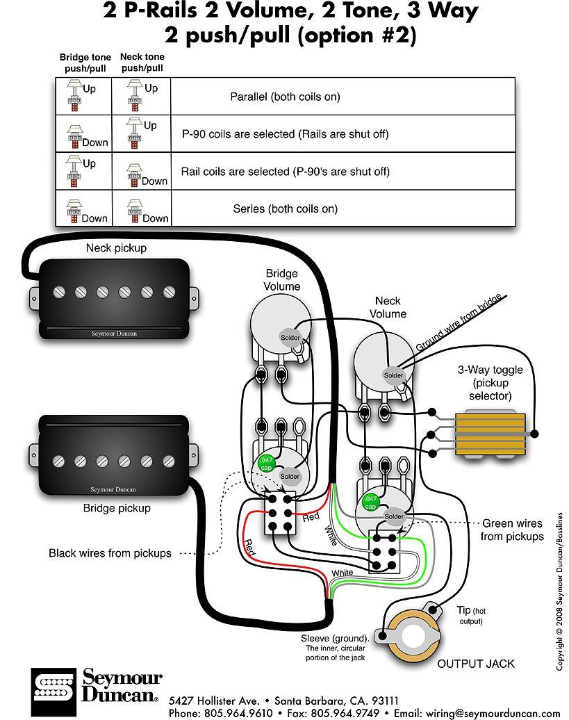 seymour duncan p rails wiring 2 pickup wiring in 2019. Black Bedroom Furniture Sets. Home Design Ideas