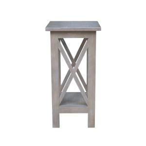 International Concepts Weathered 24 in. H Gray X-Sided Plant Stand-OT0