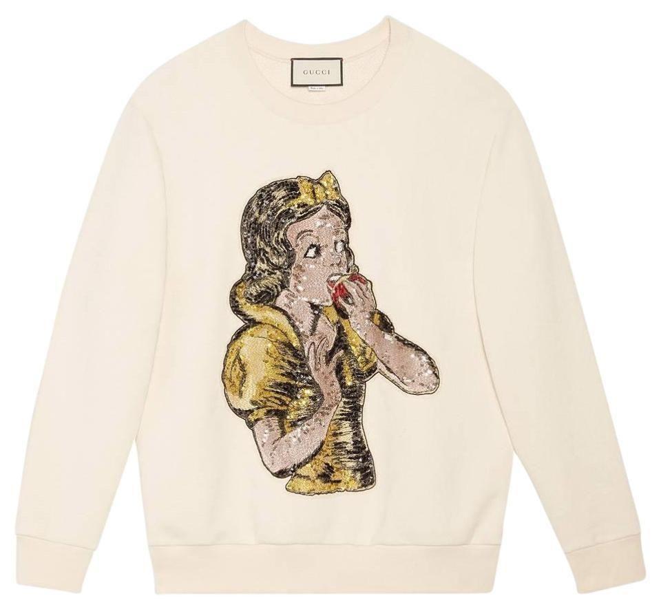 Gucci White Oversize With Sequin Snow Sweatshirt Hoodie Size 6 S Gaya Model Pakaian Model Pakaian Pakaian [ 885 x 960 Pixel ]