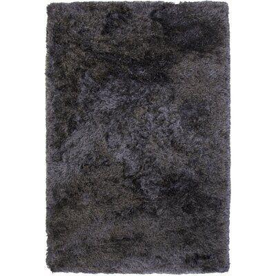 Everly Quinn Yan Handmade Shag Charcoal Area Rug Area Rugs Rugs Indoor Area Rugs