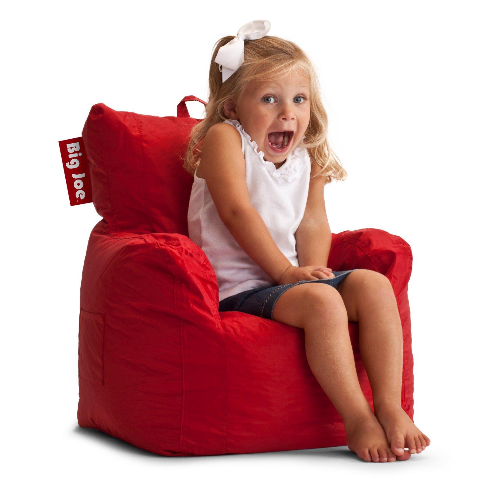 Big Joe Cuddle Chair In Smartmax Flaming Red Bean Bag Chair