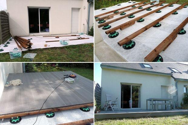Suivez la construction d\u0027une terrasse en bois composite Terrasse