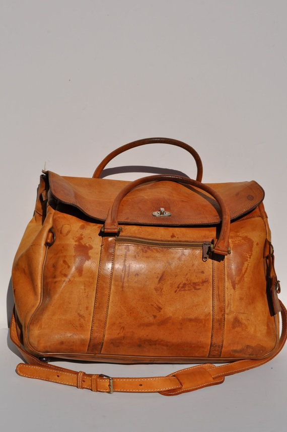 Vintage Leather Bag Hartmann Carry On Travel Weekend Bag