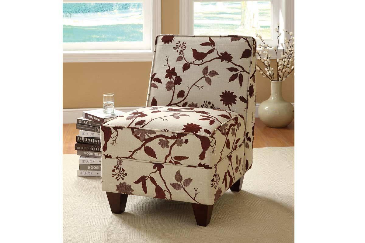 Best Burgundy Accent Chairs Burgundy Birds Pattern Accent 640 x 480
