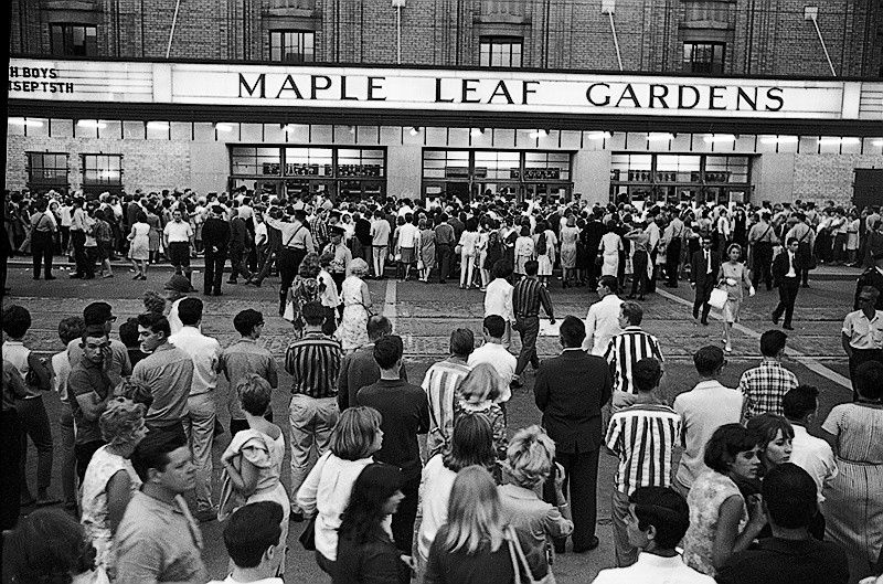 「Maple Leaf Gardens, Toronto, Canada 1966 beatles  Press conference」の画像検索結果