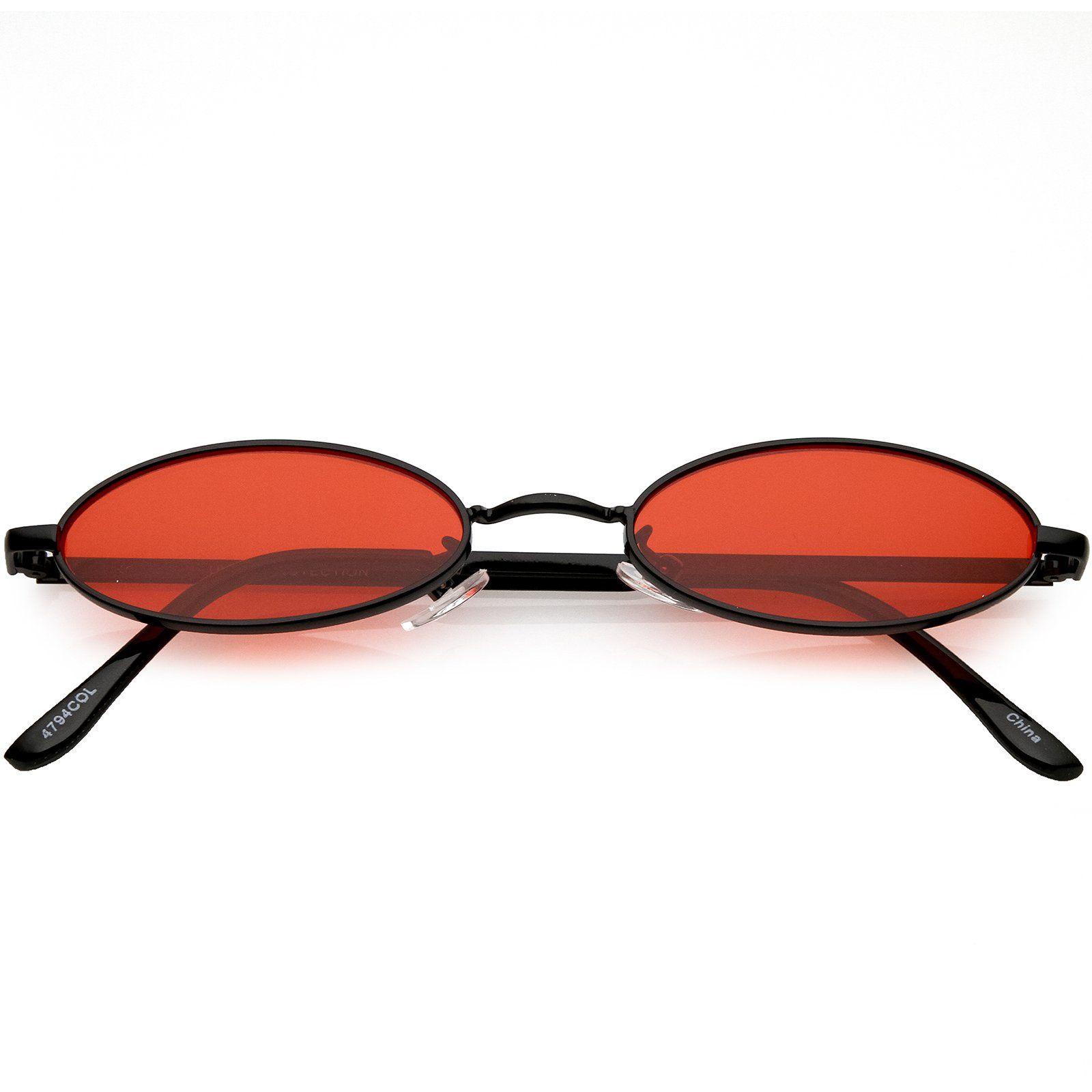 3c71c72323 Extreme Small Oval Sunglasses Color Tinted Flat Lens 51mm  sunglass  frame   sunglasses  summer  cateye  purple  womens  oversized  mirrored  sunglassla