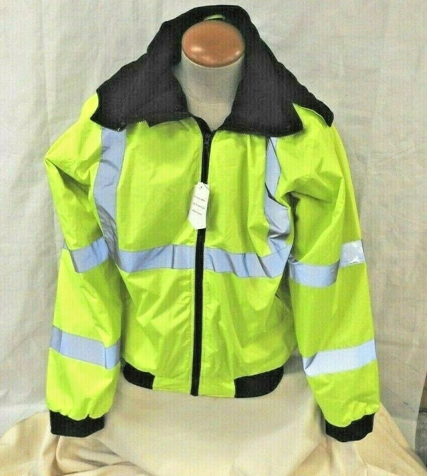 Maxxell Mens Safety High Visibility Water Resistant