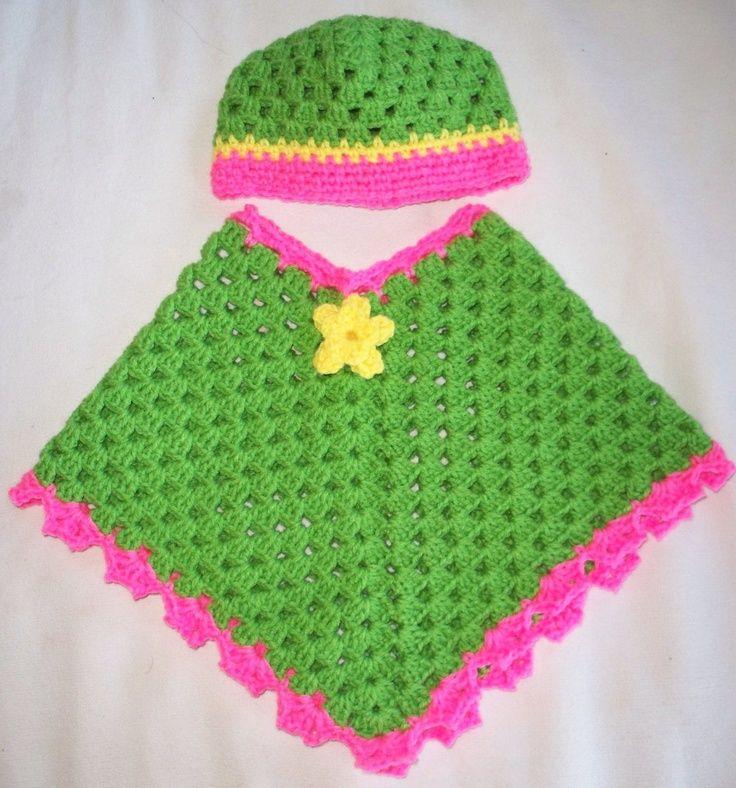 ponchos para niña on Pinterest | 37 Pins | Tejidos para niños a ...