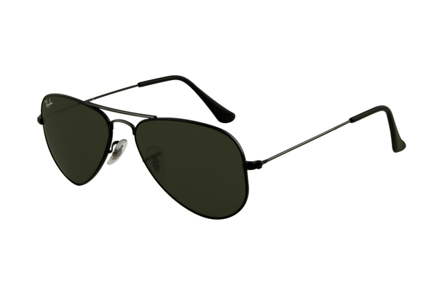 ray ban aviator sunglasses silver frame black lens  10+ images about sunglasses on pinterest