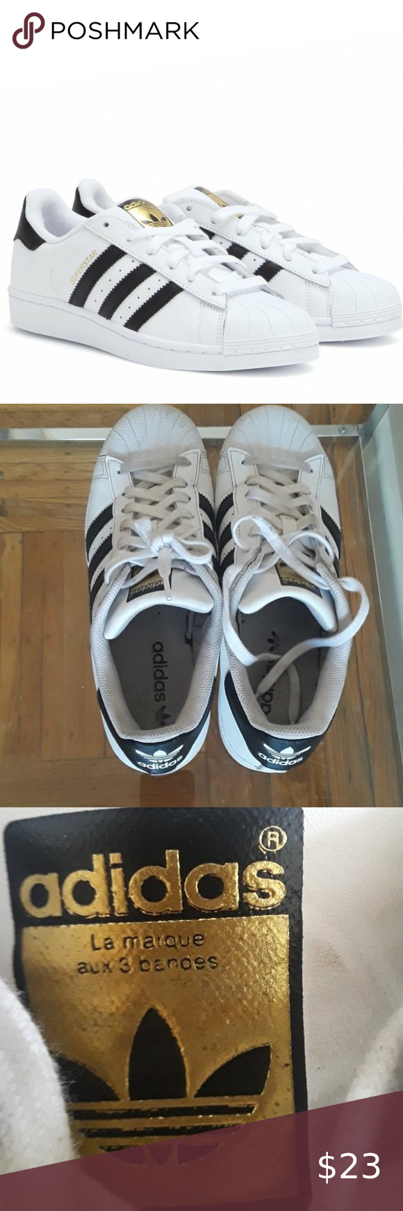 COPY - Adidas Superstar Leather Sneakers in White Casual shoes ...