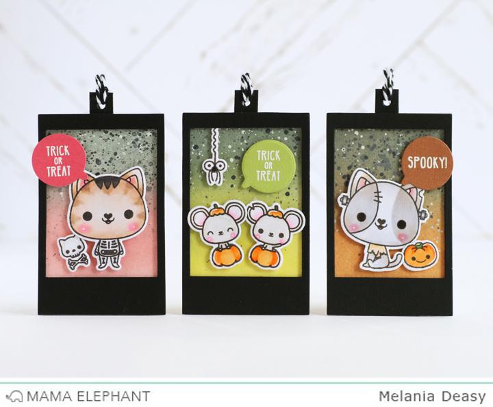 Cute Halloween Tags for Mama Elephant