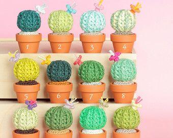 Amigurumi Cactus Crochet Pattern : Crochet cactus amigurumi cactus artificial cactus crochet plant