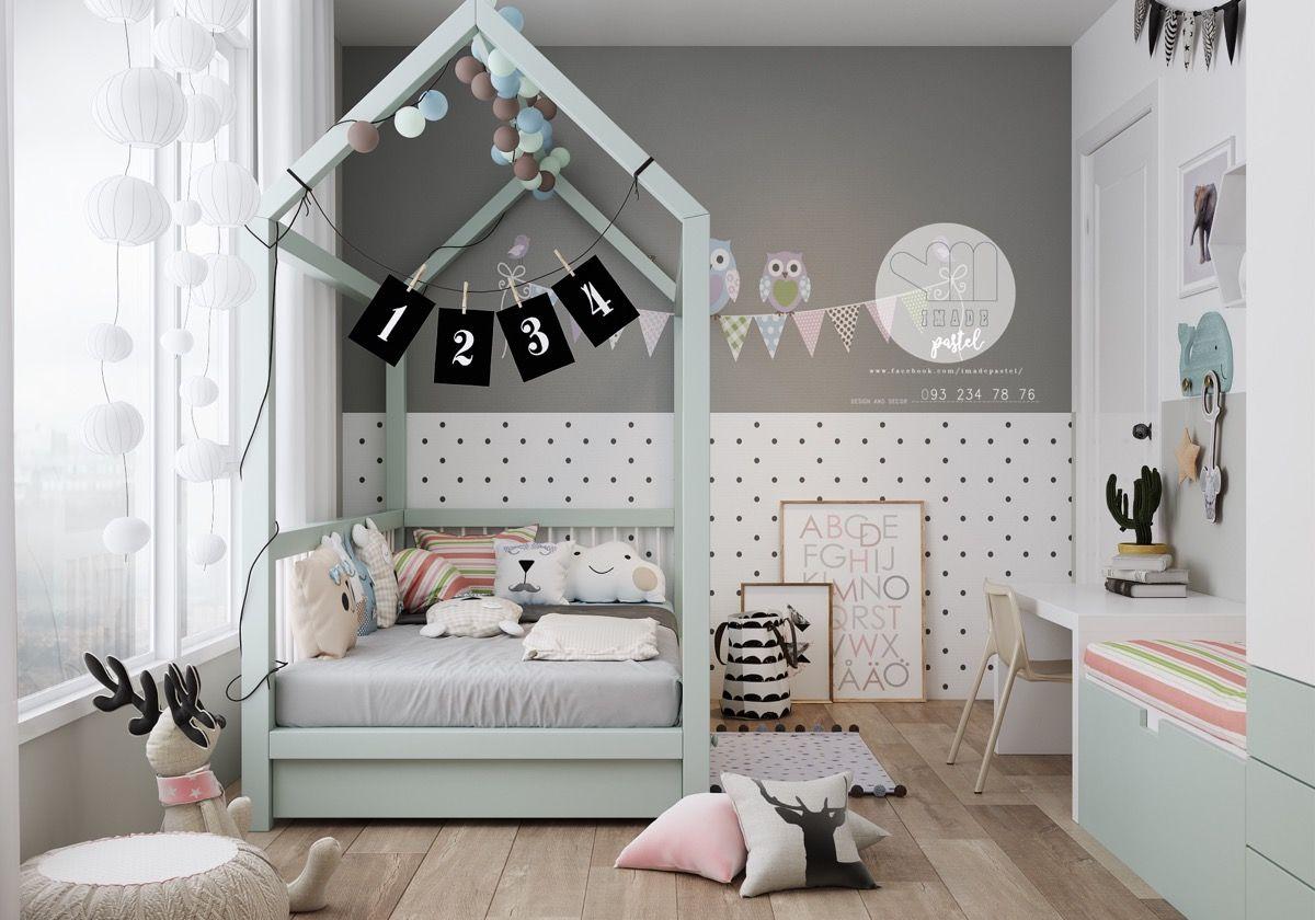 Stijlvolle-slaapkamer-kinderen-4c - baby and kids   Pinterest ...