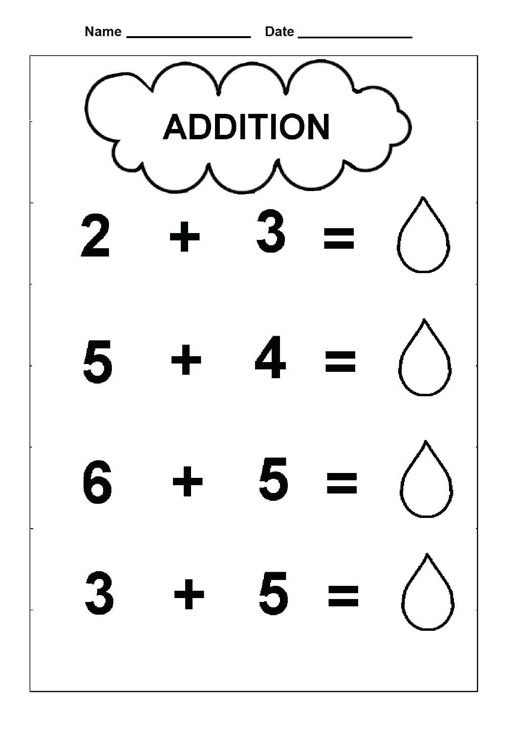 Free Simple Addition Worksheets Pictures