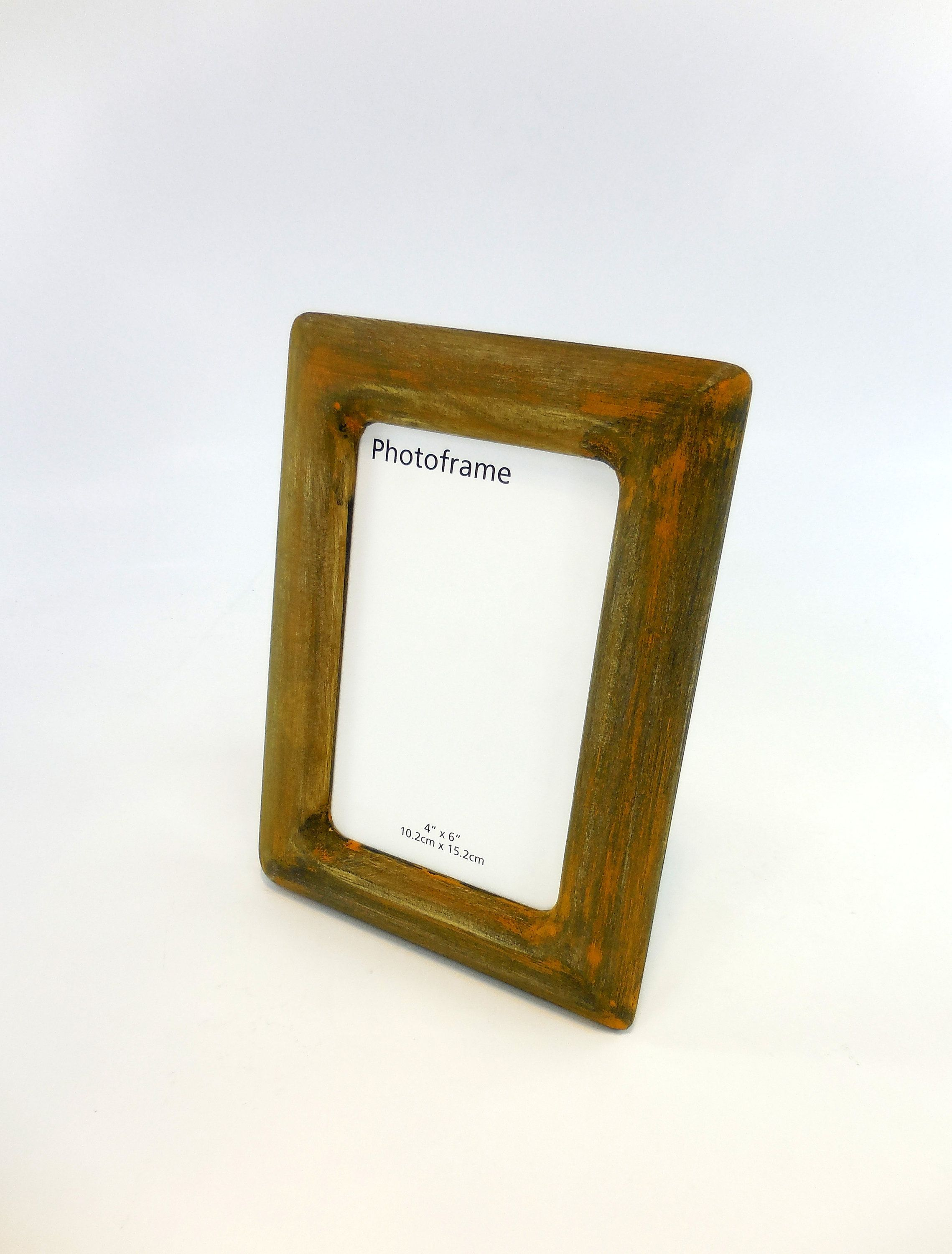 Wood Picture Frame 4x6 Wooden Photo Frame Unique Frame Rustic