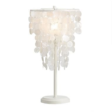 Capiz table lamp cfl bulb white bedroom sanctuary bedrooms and capiz table lamp pbteen aloadofball Images