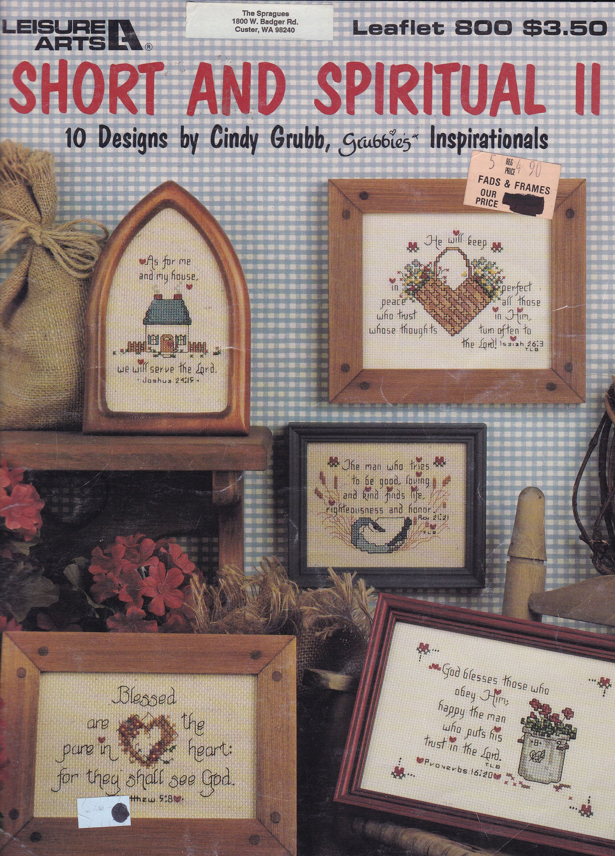 FREE US SHIP Leisure Arts Leaflet 800 Short Spiritual Ll Bible Verses 1989 Heart Basket Cindy Grubb Embroidery Cross Stitch By LanetzLiving On Etsy