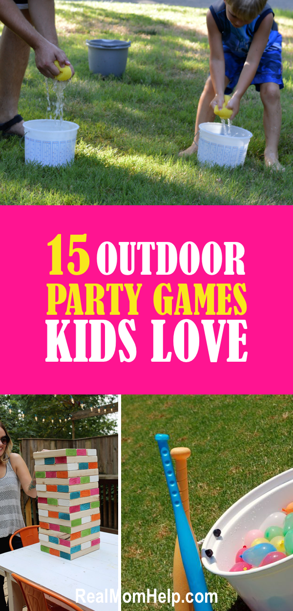 15 Epic Outdoor Party Games Kids Need To Try Outdoors Birthday Party Outdoor Birthday Games Birthday Party Games For Kids