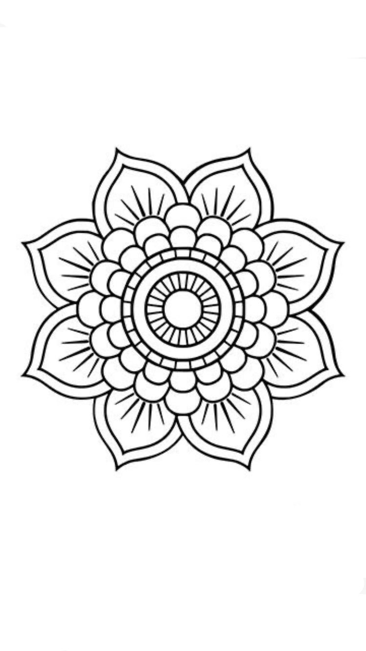 Pin by 郝姑娘 on 3 flower coloring pages flower tattoo