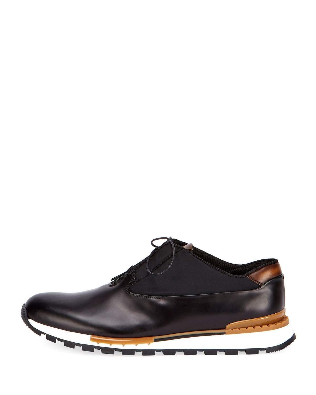 Berluti Men's Fast Track Torino Glazed Calf Leather Sneaker