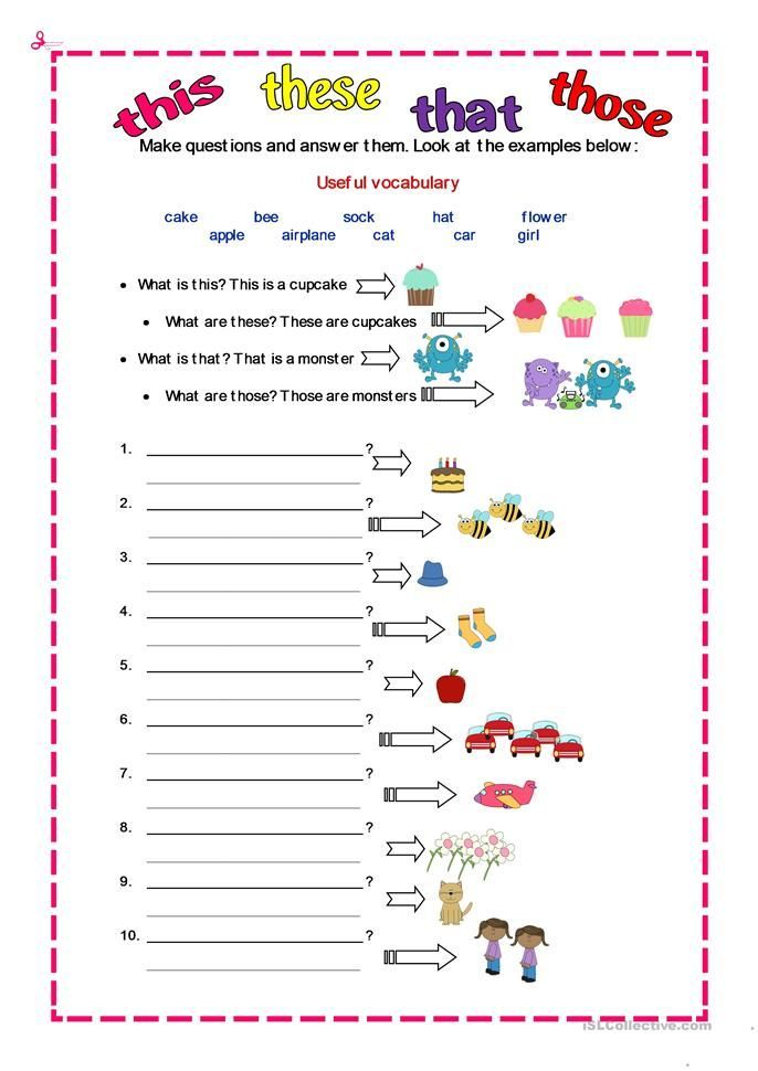 DEMONSTRATIVES - English ESL Worksheets - -