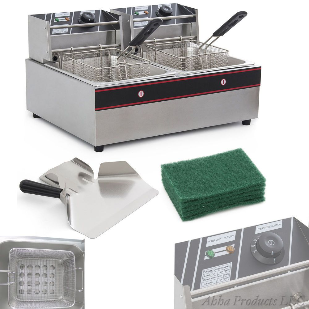 Commercial 12l Stainless Steel Electric Countertop Deep Fryer