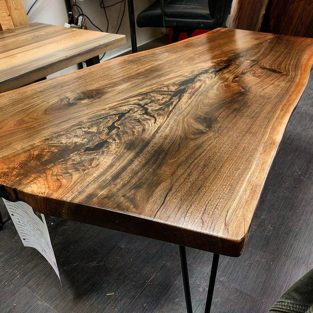 Live Edge Coffee Table Toronto: Another Amazing Looking Live Edge Ontario Black Walnut