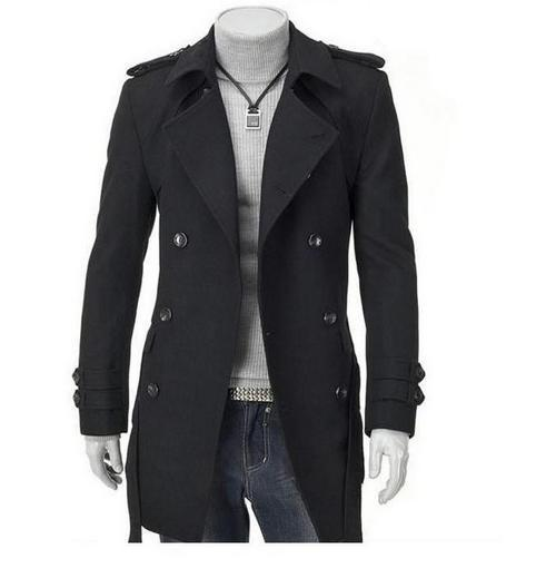 Fashion Coat Shoulder Board Long Overcoat Outwear Woolen