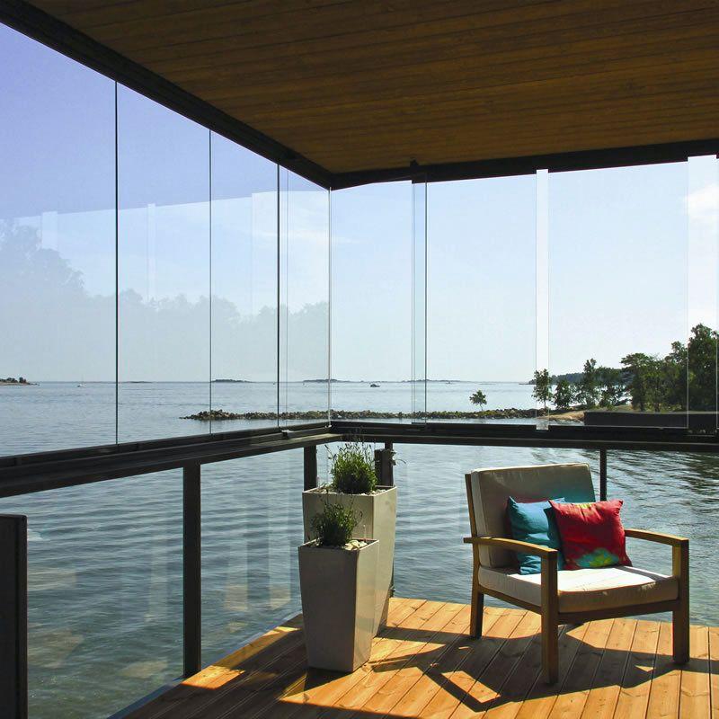 cerramiento vidriado sin parantes ni perfiles verticales divisor de ambientes ideal para balcones