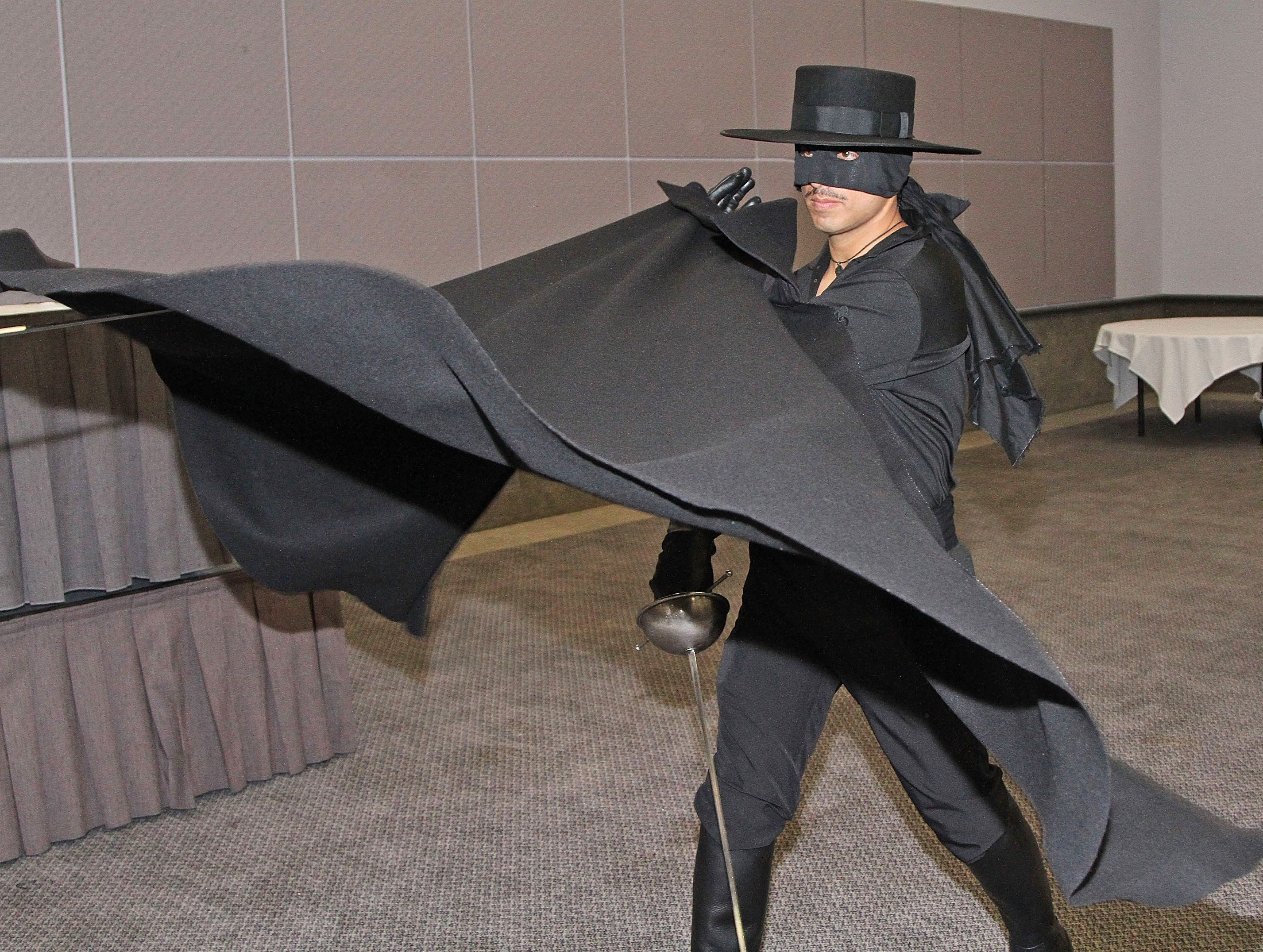 Zorro Alex Kruz Uses A Universal Parry With A Cape Flourish To
