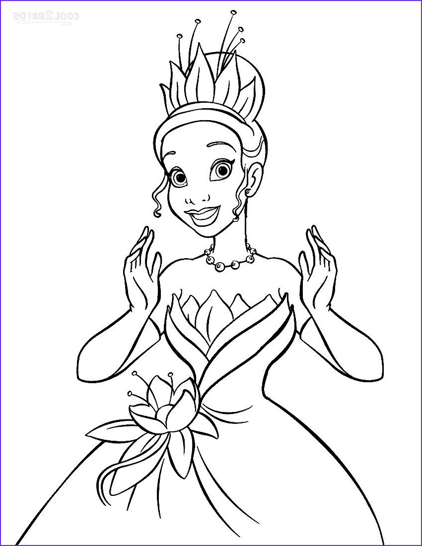 Printable Princess Tiana Coloring Pages For Kids Disney Princess Coloring Pages Disney Princess Colors Princess Coloring Pages