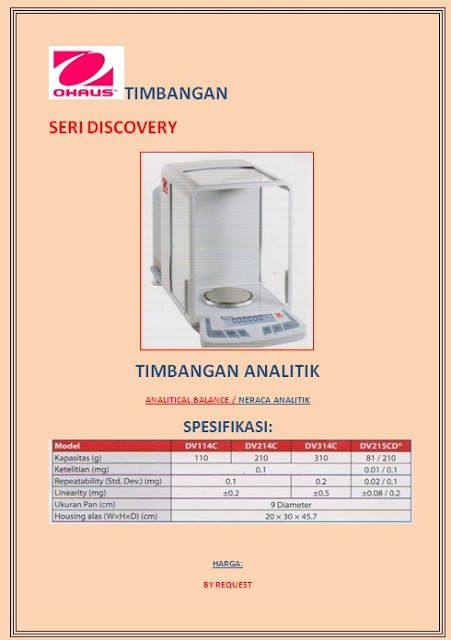 Neraca Analitik Ohaus Seri Discovery Laboratory Supplier Discovery