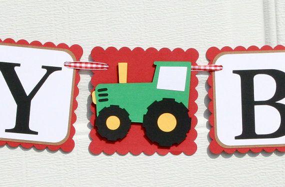 Banner de cumpleaños de la granja granja por ALittlePaperHouse
