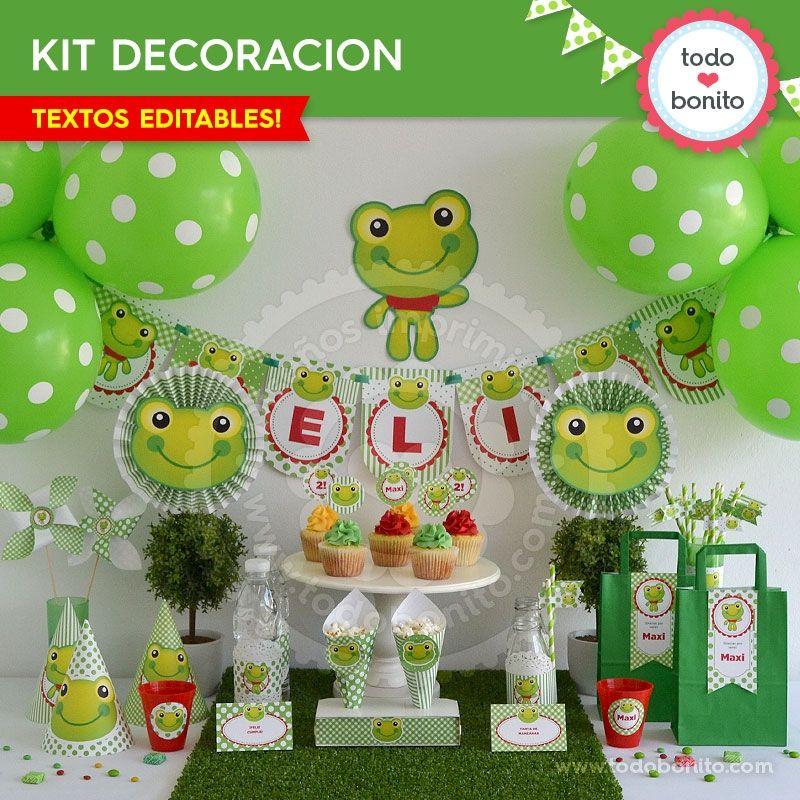Sapo decoraci n de fiesta para imprimir todo bonito for Ranas decoracion jardin