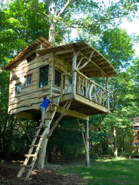 Gut Backyard Tree House By The Treehouse Guys, LLC Vermont