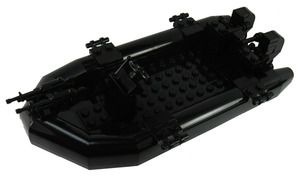Custom Lego Military Vessel Model Set For Soldier Minifigures Navy Fast Attack Boat - Pre - Assembled