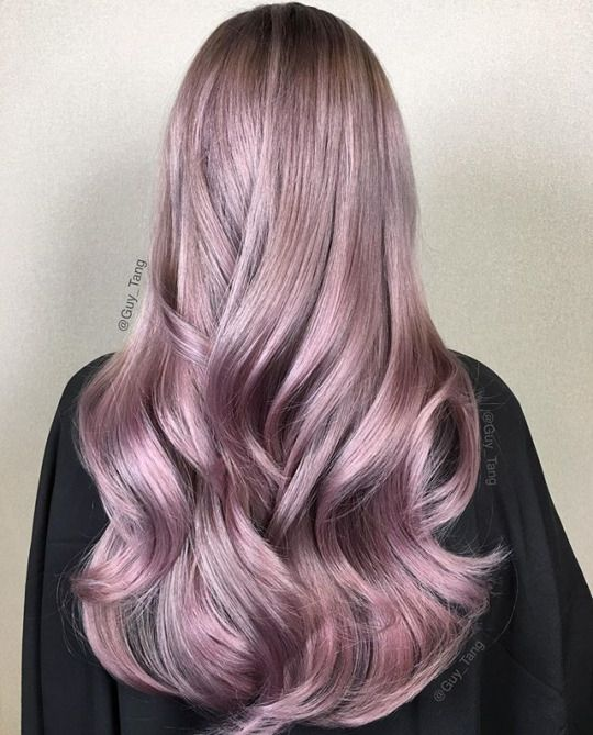 Hairstyles & Beauty purple grey lilac colored hair