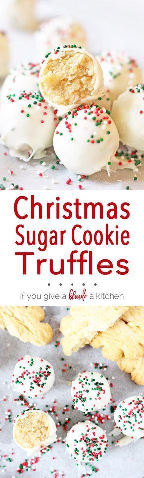 Christmas Sugar Cookie Truffles Recipe Chrismas Pinterest